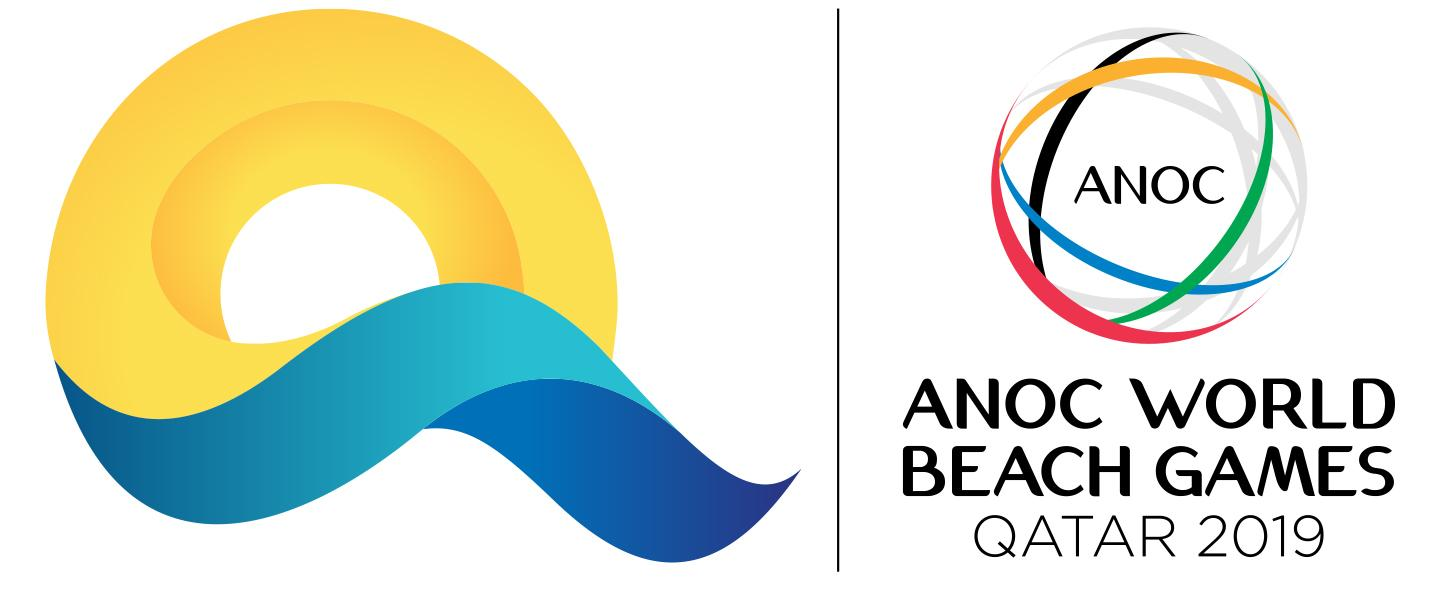 Logo 2019 ANOC World Beach Games QAT 1440x600
